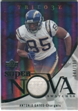 2007 Upper Deck Trilogy Supernova Swatches Silver #AG Antonio Gates /199