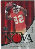 2007 Upper Deck Trilogy Supernova Swatches Silver #BO Dwayne Bowe /199