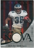 2007 Upper Deck Trilogy Supernova Swatches Silver #BW Brian Westbrook /199