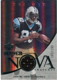 2007 Upper Deck Trilogy Supernova Swatches Silver #DJ Dwayne Jarrett /199