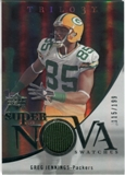 2007 Upper Deck Trilogy Supernova Swatches Silver #GJ Greg Jennings /199