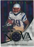 2007 Upper Deck Trilogy Supernova Swatches Silver #LM Laurence Maroney /199