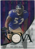 2007 Upper Deck Trilogy Supernova Swatches Silver #RL Ray Lewis /199