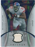 2007 Upper Deck Trilogy Materials Silver #BJ Brandon Jacobs /199