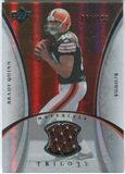 2007 Upper Deck Trilogy Materials Silver #BQ Brady Quinn /199