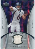 2007 Upper Deck Trilogy Materials Silver #JC Jay Cutler /199