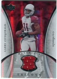 2007 Upper Deck Trilogy Materials Silver #LF Larry Fitzgerald /199