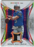 2007 Upper Deck Trilogy Sunday Best Jersey Patch Hologold #DS Drew Stanton /33