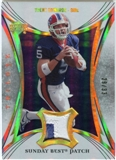 2007 Upper Deck Trilogy Sunday Best Jersey Patch Hologold #TE Trent Edwards /33