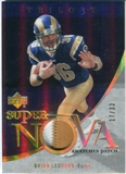 2007 Upper Deck Trilogy Supernova Swatches Patch Hologold #BL Brian Leonard /33