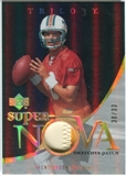 2007 Upper Deck Trilogy Supernova Swatches Patch Hologold #TG Trent Green /33