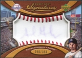 2007 Upper Deck Sweet Spot Signatures Red Stitch Blue Ink #AG Adrian Gonzalez /350