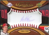 2007 Upper Deck Sweet Spot Signatures Red Stitch Blue Ink #AK Austin Kearns Autograph /299
