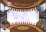 2007 Upper Deck Sweet Spot Signatures Red Stitch Blue Ink #AL Adam LaRoche Autograph /350