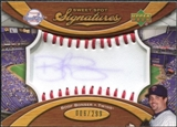 2007 Upper Deck Sweet Spot Signatures Red Stitch Blue Ink #BB Boof Bonser /299
