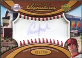 2007 Upper Deck Sweet Spot Signatures Red Stitch Blue Ink #CJ Conor Jackson /299