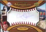 2007 Upper Deck Sweet Spot Signatures Red Stitch Blue Ink #CQ Carlos Quentin /299