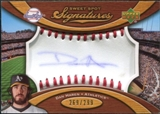 2007 Upper Deck Sweet Spot Signatures Red Stitch Blue Ink #DH Dan Haren Autograph /299