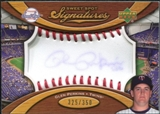 2007 Upper Deck Sweet Spot Signatures Red Stitch Blue Ink #GP Glen Perkins Autograph /350