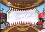 2007 Upper Deck Sweet Spot Signatures Red Stitch Blue Ink #HK Howie Kendrick /350