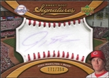 2007 Upper Deck Sweet Spot Signatures Red Stitch Blue Ink #JH Josh Hamilton Autograph /350