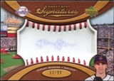 2007 Upper Deck Sweet Spot Signatures Red Stitch Blue Ink #JS Jeremy Sowers /99