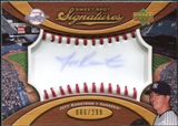 2007 Upper Deck Sweet Spot Signatures Red Stitch Blue Ink #KA Jeff Karstens /299