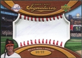 2007 Upper Deck Sweet Spot Signatures Red Stitch Blue Ink #MM Melvin Mora /99