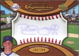 2007 Upper Deck Sweet Spot Signatures Red Stitch Blue Ink #RH Rich Hill /299