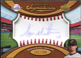 2007 Upper Deck Sweet Spot Signatures Red Stitch Blue Ink #SE Sergio Mitre /299