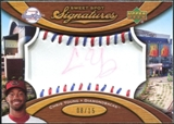 2007 Upper Deck Sweet Spot Signatures Red-Blue Stitch Red Ink #YG Chris B. Young Autograph /15