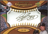 2007 Upper Deck Sweet Spot Signatures Gold Stitch Gold Ink #BR Brian Bruney /99