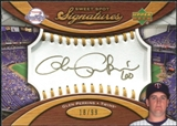 2007 Upper Deck Sweet Spot Signatures Gold Stitch Gold Ink #GP Glen Perkins /99