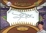 2007 Upper Deck Sweet Spot Signatures Gold Stitch Gold Ink #JN Joe Nathan Autograph /99