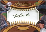 2007 Upper Deck Sweet Spot Signatures Gold Stitch Gold Ink #KA Jeff Karstens Autograph /99