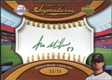 2007 Upper Deck Sweet Spot Signatures Gold Stitch Gold Ink #SE Sergio Mitre Autograph /99