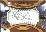 2007 Upper Deck Sweet Spot Signatures Silver Stitch Silver Ink #AL Adam LaRoche /25