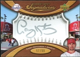 2007 Upper Deck Sweet Spot Signatures Silver Stitch Silver Ink #CK Casey Kotchman /99