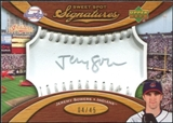 2007 Upper Deck Sweet Spot Signatures Silver Stitch Silver Ink #JS Jeremy Sowers Autograph /45