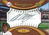 2007 Upper Deck Sweet Spot Signatures Silver Stitch Silver Ink #MM Melvin Mora 4/6