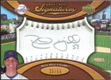 2007 Upper Deck Sweet Spot Signatures Silver Stitch Silver Ink #RH Rich Hill /51