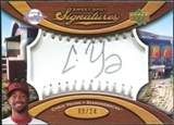 2007 Upper Deck Sweet Spot Signatures Silver Stitch Silver Ink #YG Chris B. Young /24