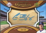 2007 Upper Deck Sweet Spot Signatures Bat Barrel Blue Ink #CB Chad Billingsley /58