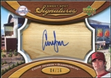 2007 Upper Deck Sweet Spot Signatures Bat Barrel Blue Ink #CJ Conor Jackson 4/16