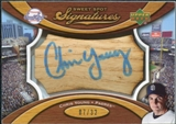 2007 Upper Deck Sweet Spot Signatures Bat Barrel Blue Ink #CY Chris Young Autograph /32