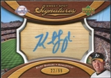 2007 Upper Deck Sweet Spot Signatures Bat Barrel Blue Ink #KS Kurt Suzuki Autograph /99