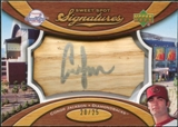 2007 Upper Deck Sweet Spot Signatures Bat Barrel Silver Ink #CJ Conor Jackson Autograph /25