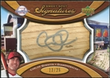 2007 Upper Deck Sweet Spot Signatures Bat Barrel Silver Ink #CQ Carlos Quentin Autograph /25