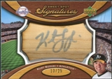2007 Upper Deck Sweet Spot Signatures Bat Barrel Silver Ink #KS Kurt Suzuki /25