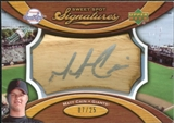 2007 Upper Deck Sweet Spot Signatures Bat Barrel Silver Ink #MC Matt Cain Autograph /25